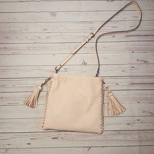 Rebecca Minkoff blush pink leather crossbody purse